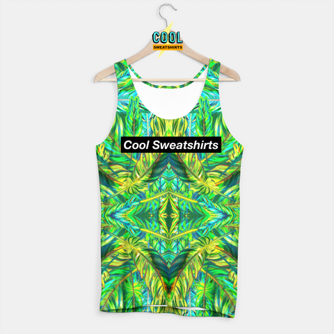 Cool Sweatshirts for men & women: Green Feathers Tank, Colorful, Colors, SexySweaters, Sexy Sweaters, EDM, Rave, Ugly Christmas Sweaters, Mr Gugu & Miss Go, HypeBeast