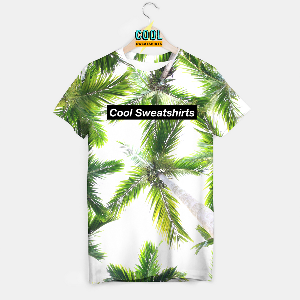 Cool Sweatshirts for men & women: Green Palm Trees shirt beach nature SexySweaters, EDM, Rave, Ugly Christmas Sweaters, Mr Gugu & Miss Go HypeBeast