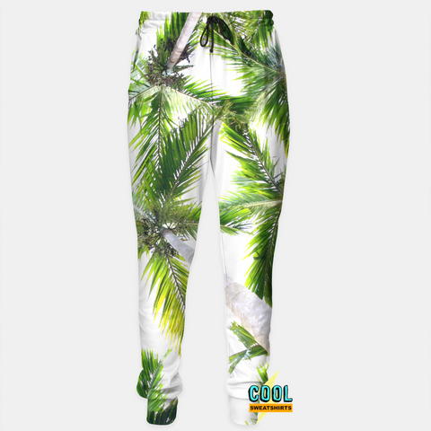 Cool Sweatshirts for men & women: Green Palm Trees Joggers Sweatpants Beach SexySweaters, Sexy Sweaters, EDM, Rave, Ugly Christmas Sweaters, Mr Gugu & Miss Go, HypeBeast