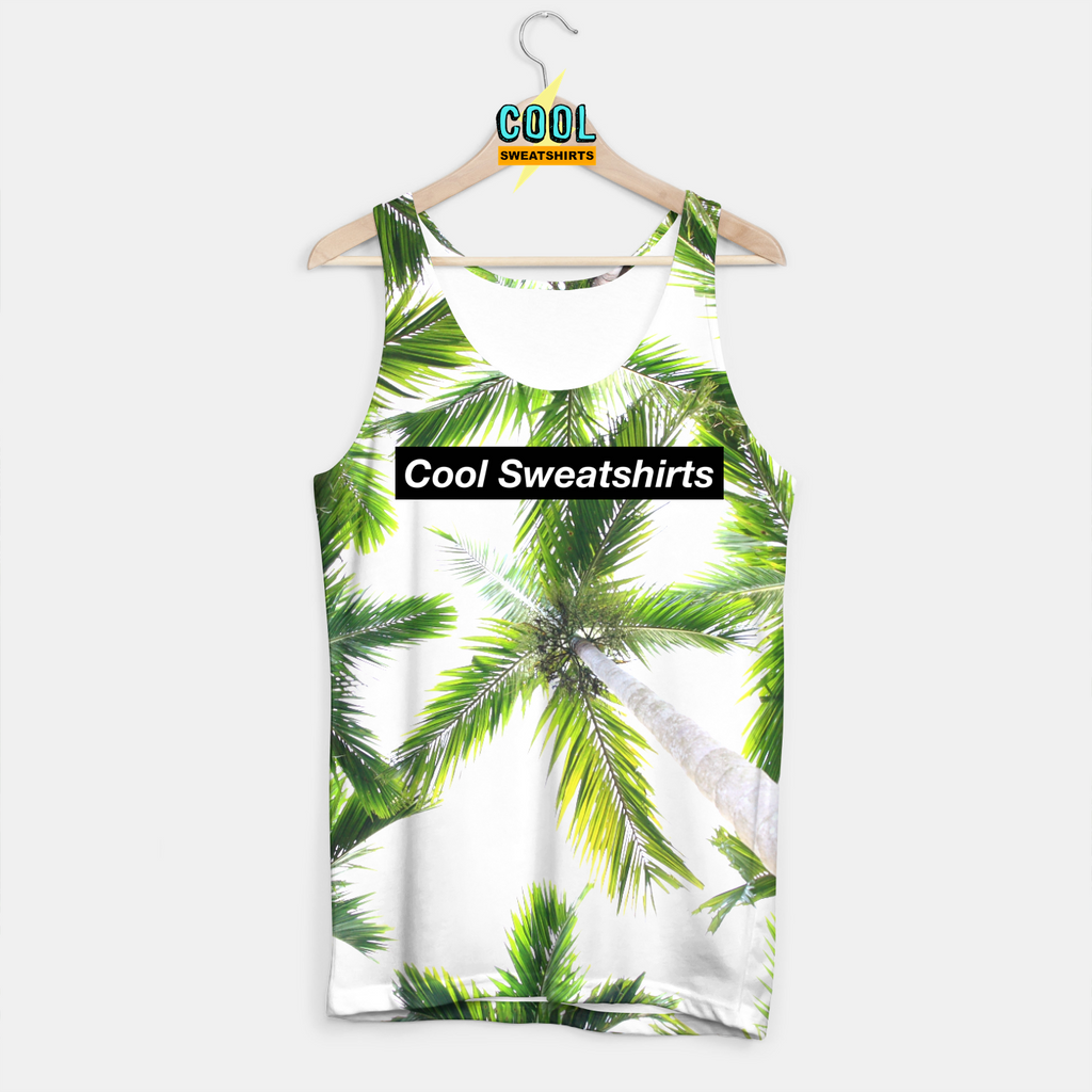 Cool Sweatshirts for men & women: Green Palm Trees tank beach nature SexySweaters, EDM, Rave, Ugly Christmas Sweaters, Mr Gugu & Miss Go HypeBeast
