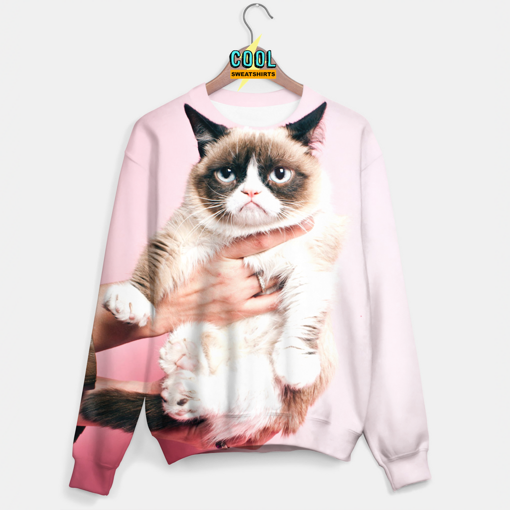 Cool Sweatshirts for men & women: Pink Grumpy Cat Sweater, SexySweaters, EDM, Rave, Ugly Christmas Sweaters, Mr Gugu & Miss Go HypeBeast
