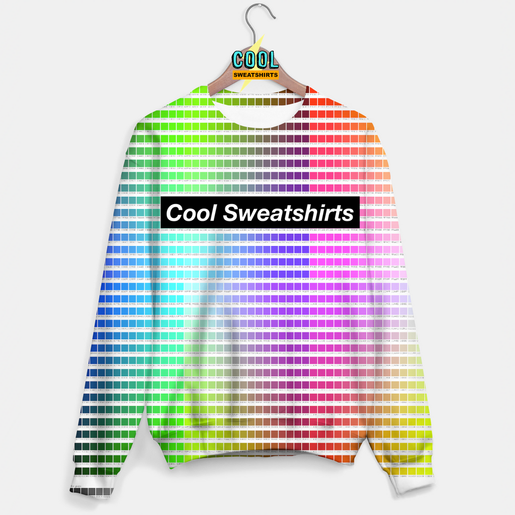 Cool Sweatshirts for men & women: HTML Color Codes Rainbow Sweater, SexySweaters, Sexy Sweaters, EDM, Rave, Ugly Christmas Sweaters, Mr. Gugu & Miss Go, HypeBeast
