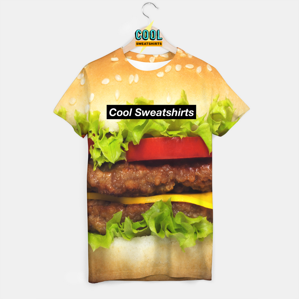 Cool Sweatshirts for men & women: Hamburger Shirt, Cheeseburger, McDonalds, Burger, EDM, Rave, Ugly Christmas Sweaters, Mr Gugu & Miss Go HypeBeast