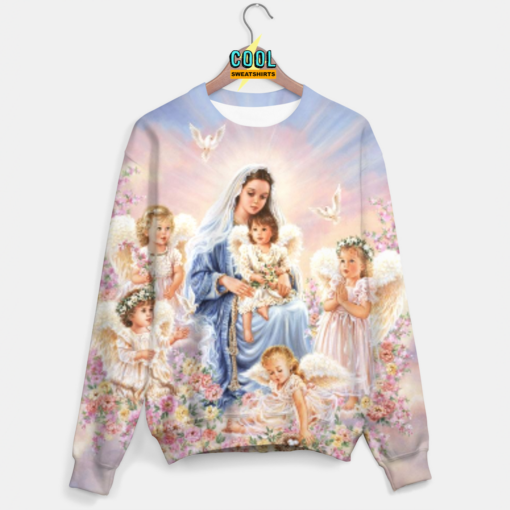 Cool Sweatshirts for men & women: Heavenly Sweater, Mary and angels, EDM, Rave, Ugly Christmas Sweaters, Mr Gugu & Miss Go HypeBeast