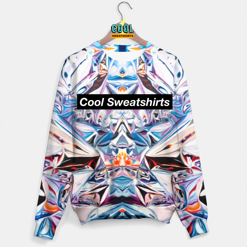Cool Sweatshirts for men & women: Hey Holographic Sweater, Colorful Colors, EDM, Rave, Ugly Christmas Sweaters, Mr Gugu & Miss Go HypeBeast, Sexy Sweaters, sexysweaters