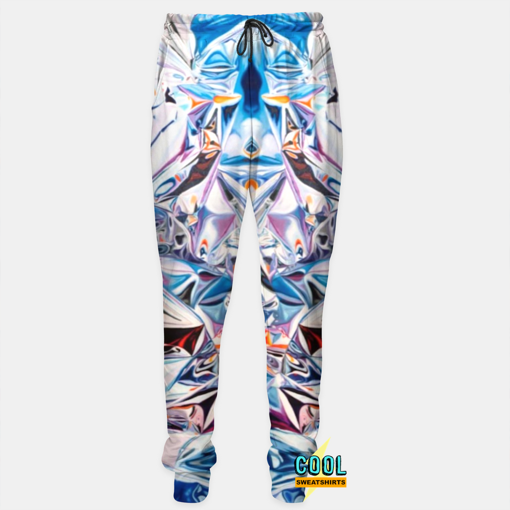 Cool Sweatshirts for men & women: Hey Holographic Joggers Sweatpants, Colorful Colors, EDM, Rave, Ugly Christmas Sweaters, Mr Gugu & Miss Go HypeBeast, Sexy Sweaters, sexysweaters