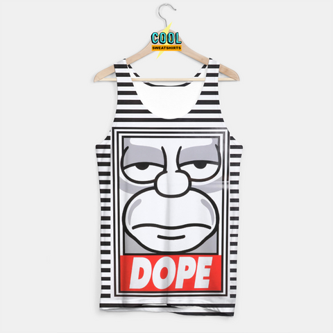 Cool Sweatshirts for men & women: Homer Simpson Dope Stripe Tank, EDM, Rave, Ugly Christmas Sweaters, Mr Gugu & Miss Go HypeBeast, Sexy Sweaters, sexysweaters
