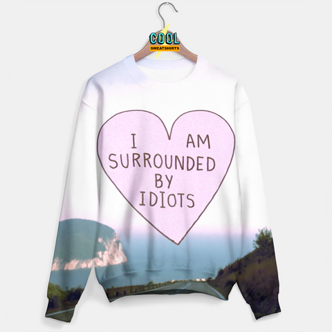 Cool Sweatshirts for men & women: I Am Surrounded By Idiots Sweater, SexySweaters, Sexy Sweaters, EDM, Rave, Ugly Christmas Sweaters, Mr. Gugu & Miss Go, HypeBeast