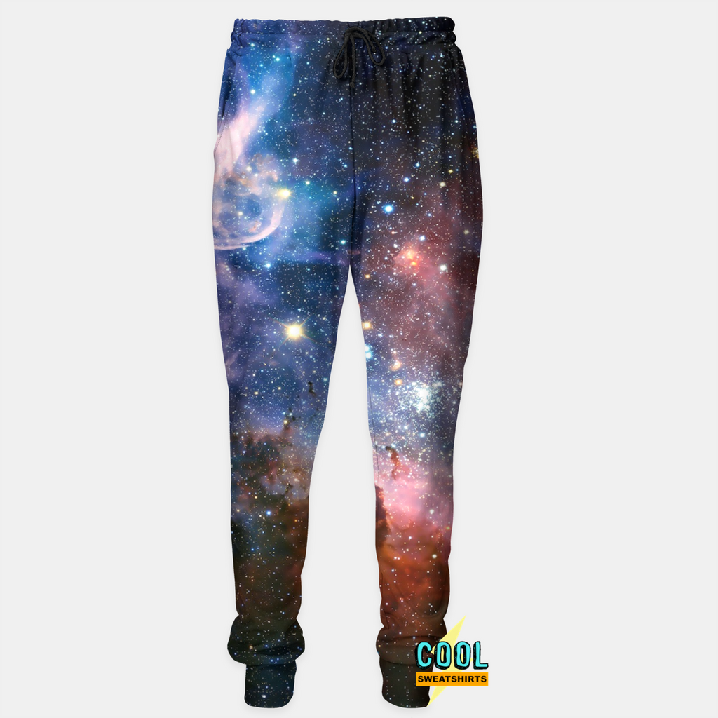 Cool Sweatshirts for men & women: Into the Galaxy Joggers Sweatpants Nebula Space Cosmos, SexySweaters, Sexy Sweaters, EDM, Rave, Ugly Christmas Sweaters, Mr. Gugu & Miss Go, HypeBeast