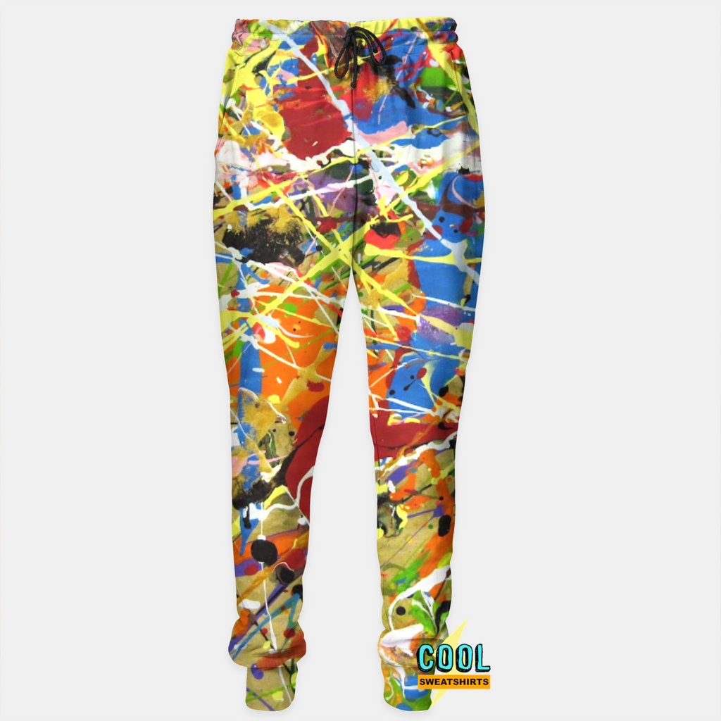 Cool Sweatshirts for men & women: Jackson Pollock Paint Splatter Joggers Sweatpants, SexySweaters, Sexy Sweaters, EDM, Rave, Ugly Christmas Sweaters, Mr Gugu & Miss Go, HypeBeast