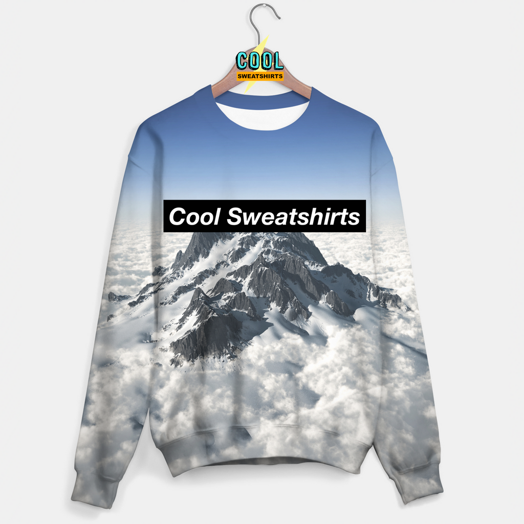 Cool Sweatshirts: Mountains In The Clouds Sweater Molly, MDMA, Rave, EDM, Festivals, Party, Drugs