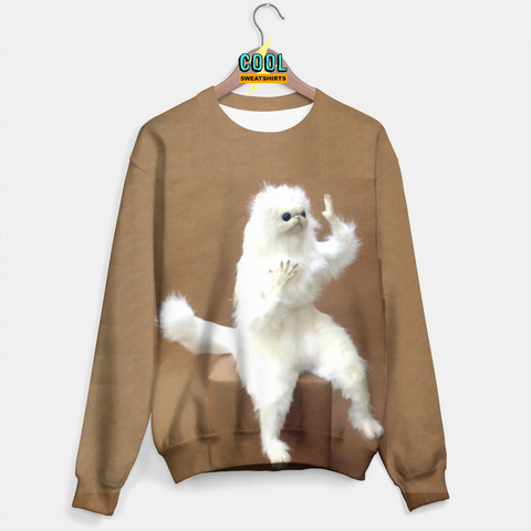 Cool Sweatshirts: Persian Cat Guardian Room Sweater Molly, MDMA, Rave, EDM, Festivals, Party, Drugs
