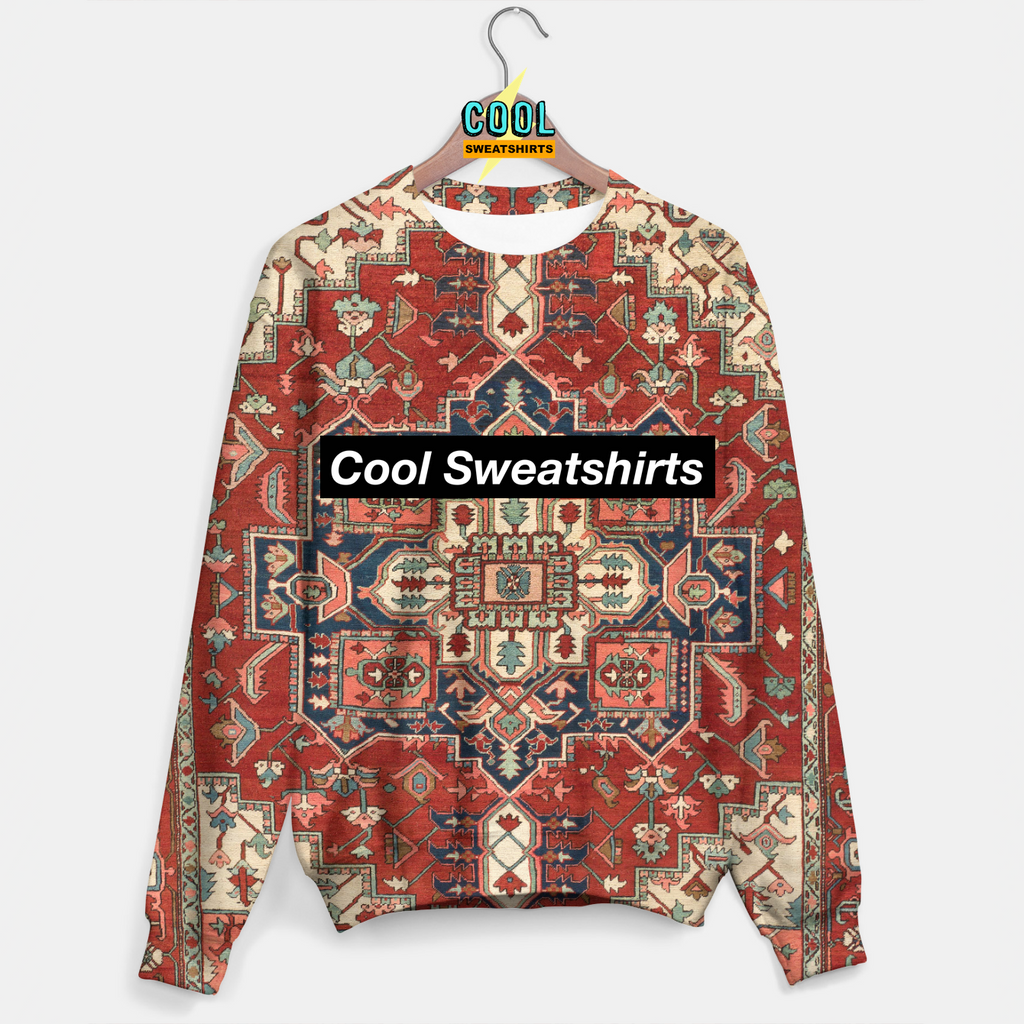 Cool Sweatshirts: Persian Rug Sweater Molly, MDMA, Rave, EDM, Festivals, Party, Drugs