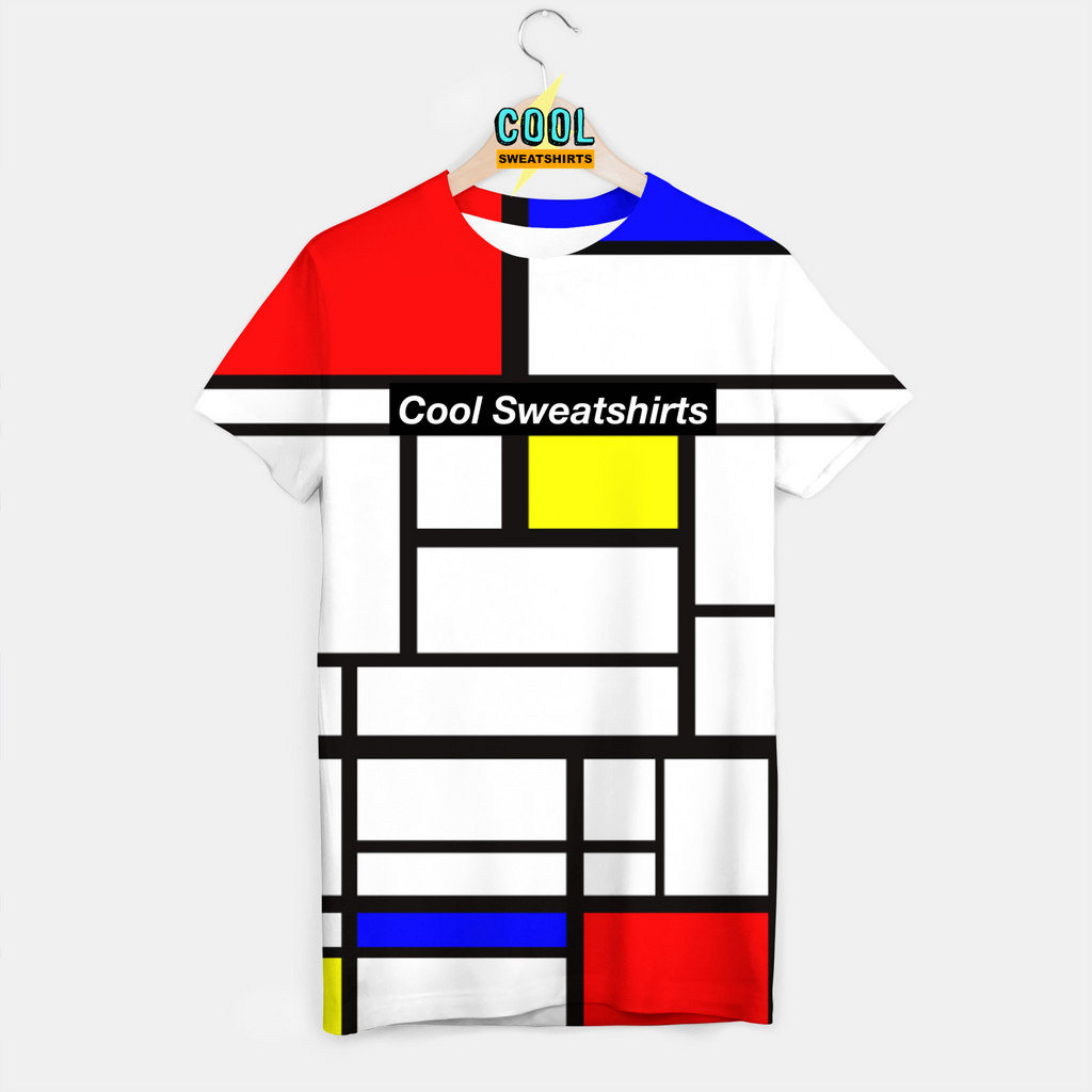 Cool Sweatshirts: Piet Mondrian Color Block Shirt Art, Festivals, EDM, Artists