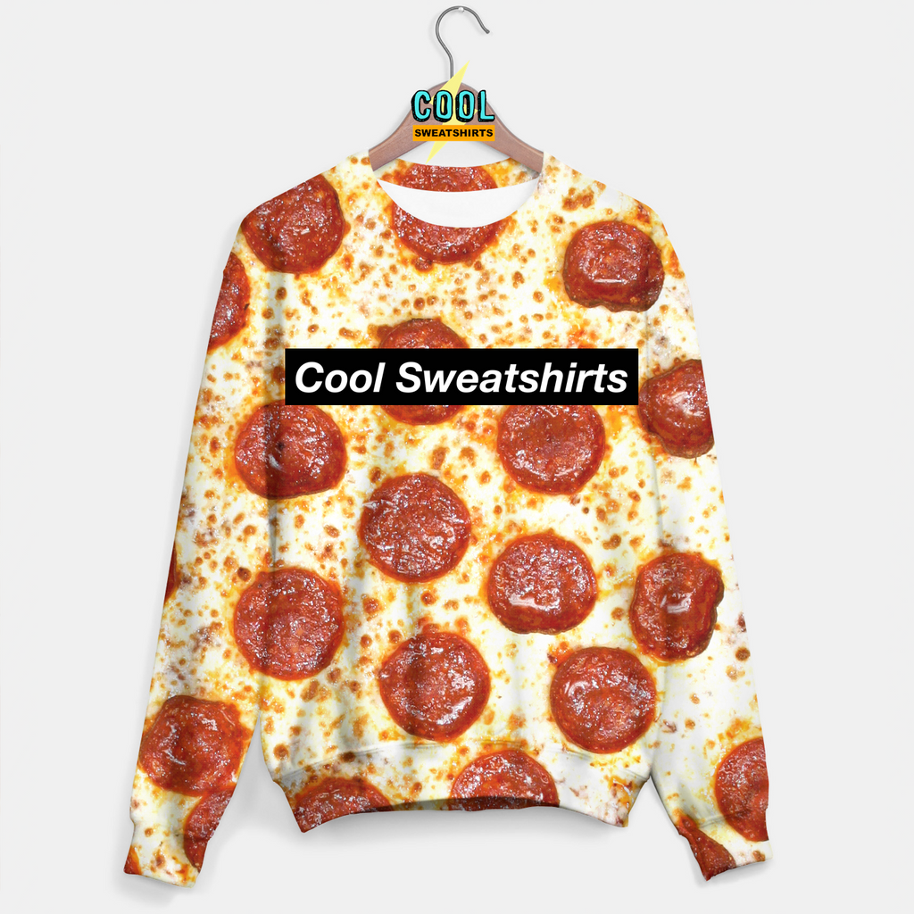 Cool Sweatshirts: Pepperoni Pizza Sweater