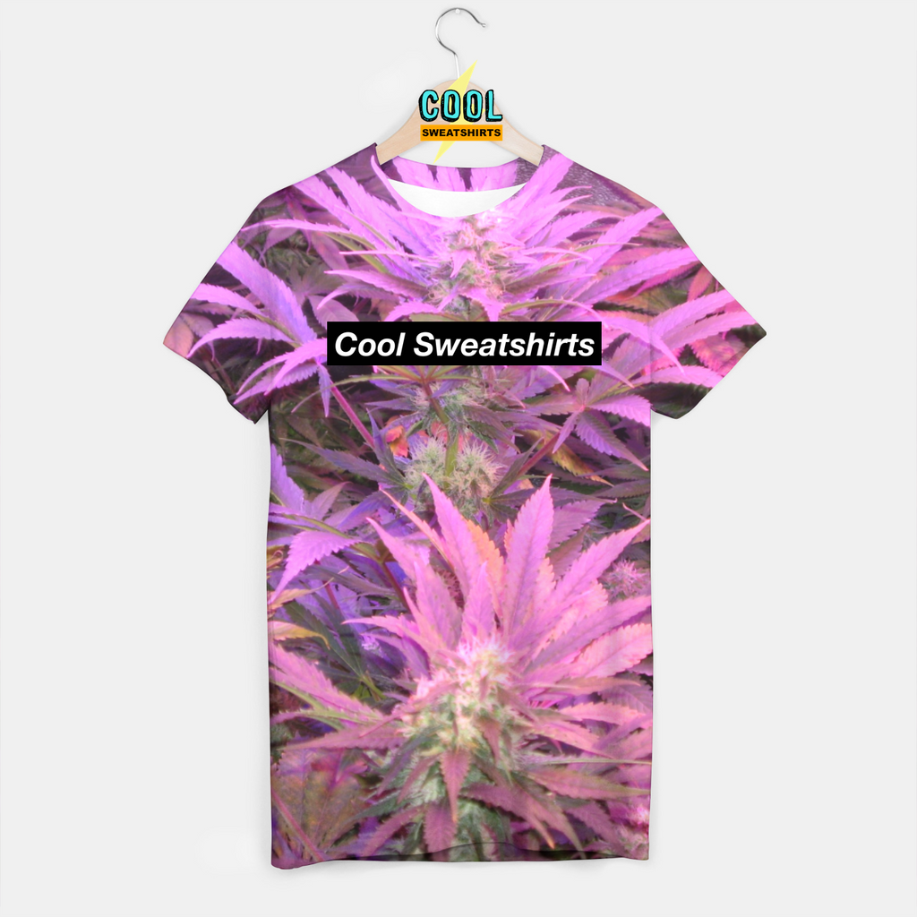 Cool Sweatshirts: Purple Weed Shirt for Rave EDM Music Festivals
