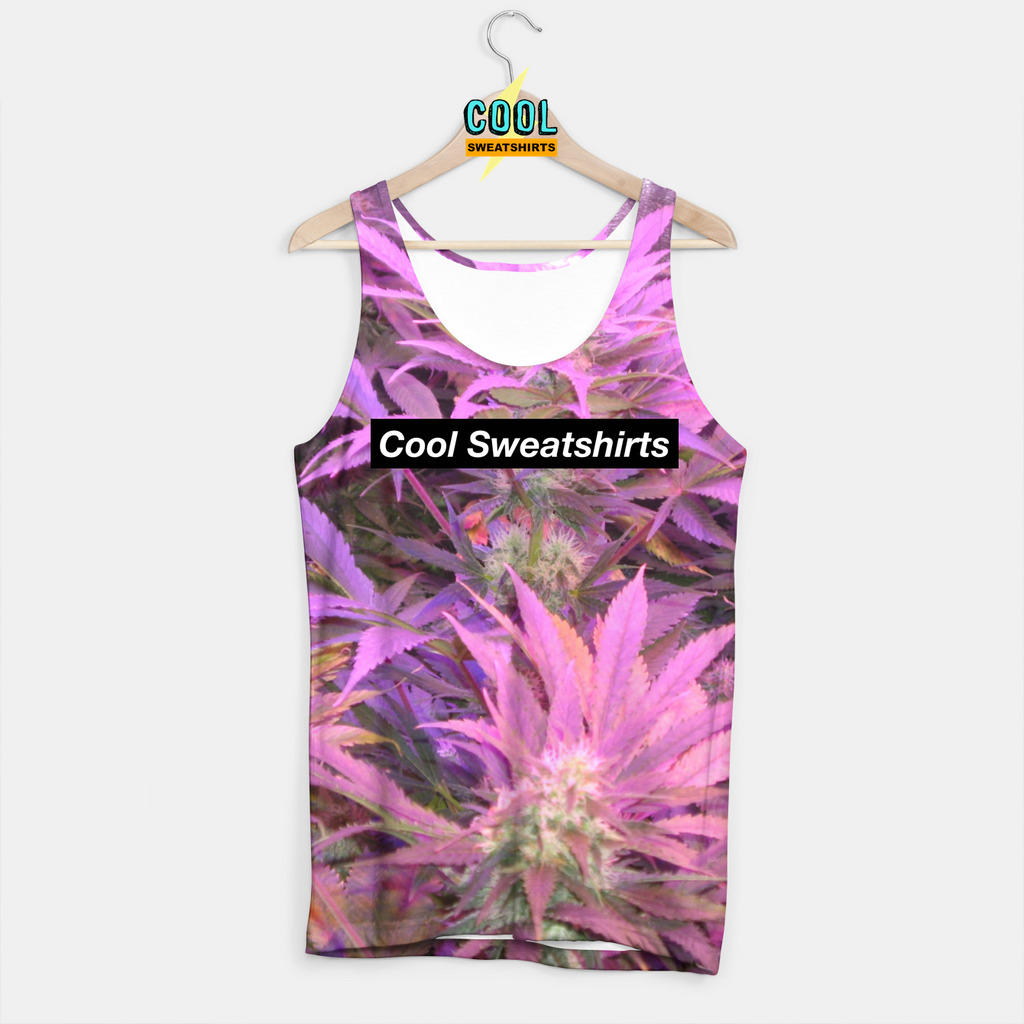 Cool Sweatshirts: Purple Weed Tank for Rave EDM Music Festivals