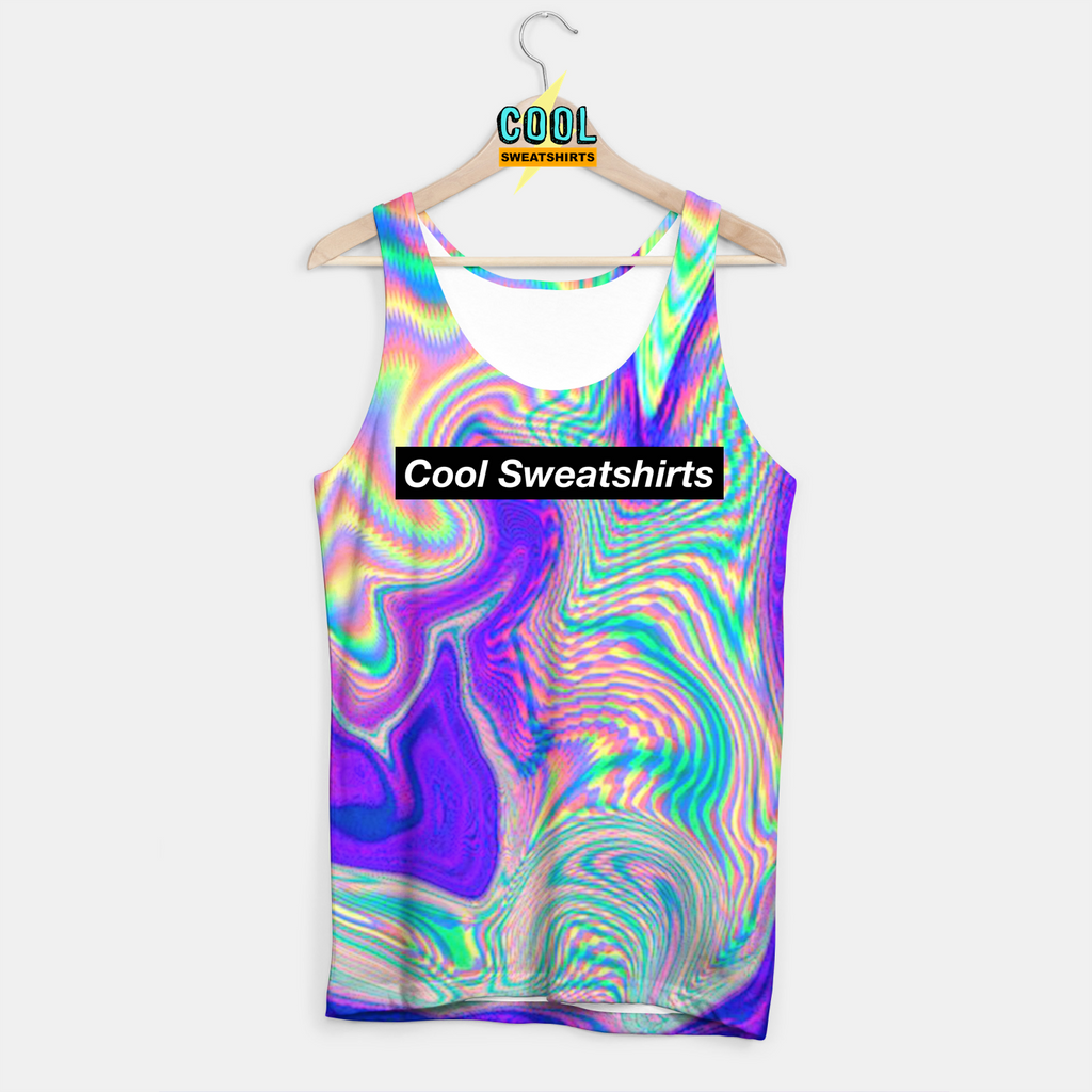 Cool Sweatshirts: Rad Holographic Tank for Rave EDM Music Festivals
