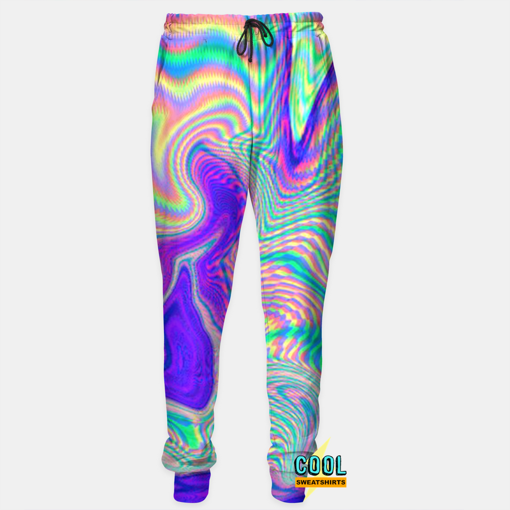 Cool Sweatshirts: Rad Holographic Joggers for Rave EDM Music Festivals