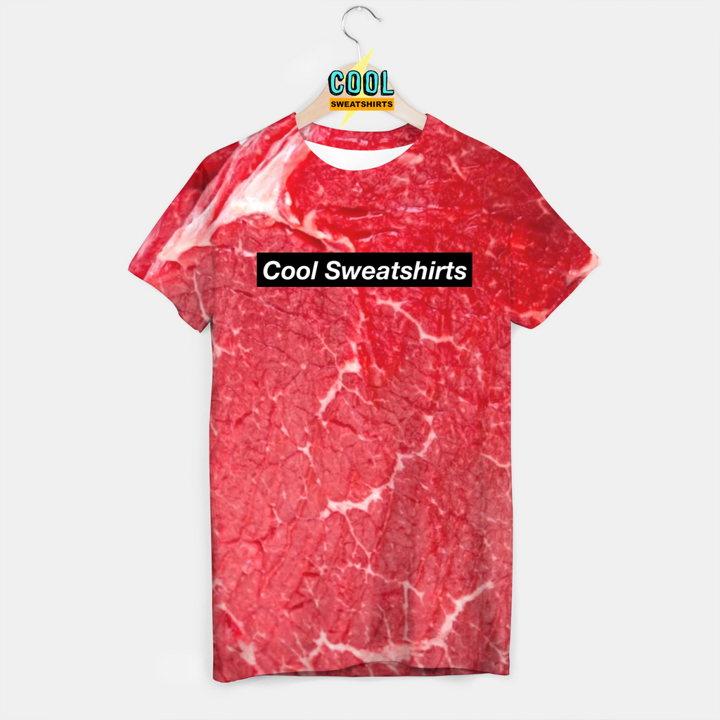 Cool Sweatshirts: Raw Red Meat Shirt for Rave EDM Music Festivals