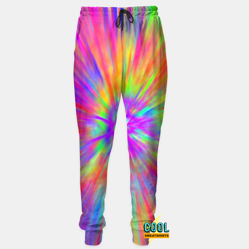 Cool Sweatshirts: Reptar Color Spew Joggers for Rave EDM Music Festivals