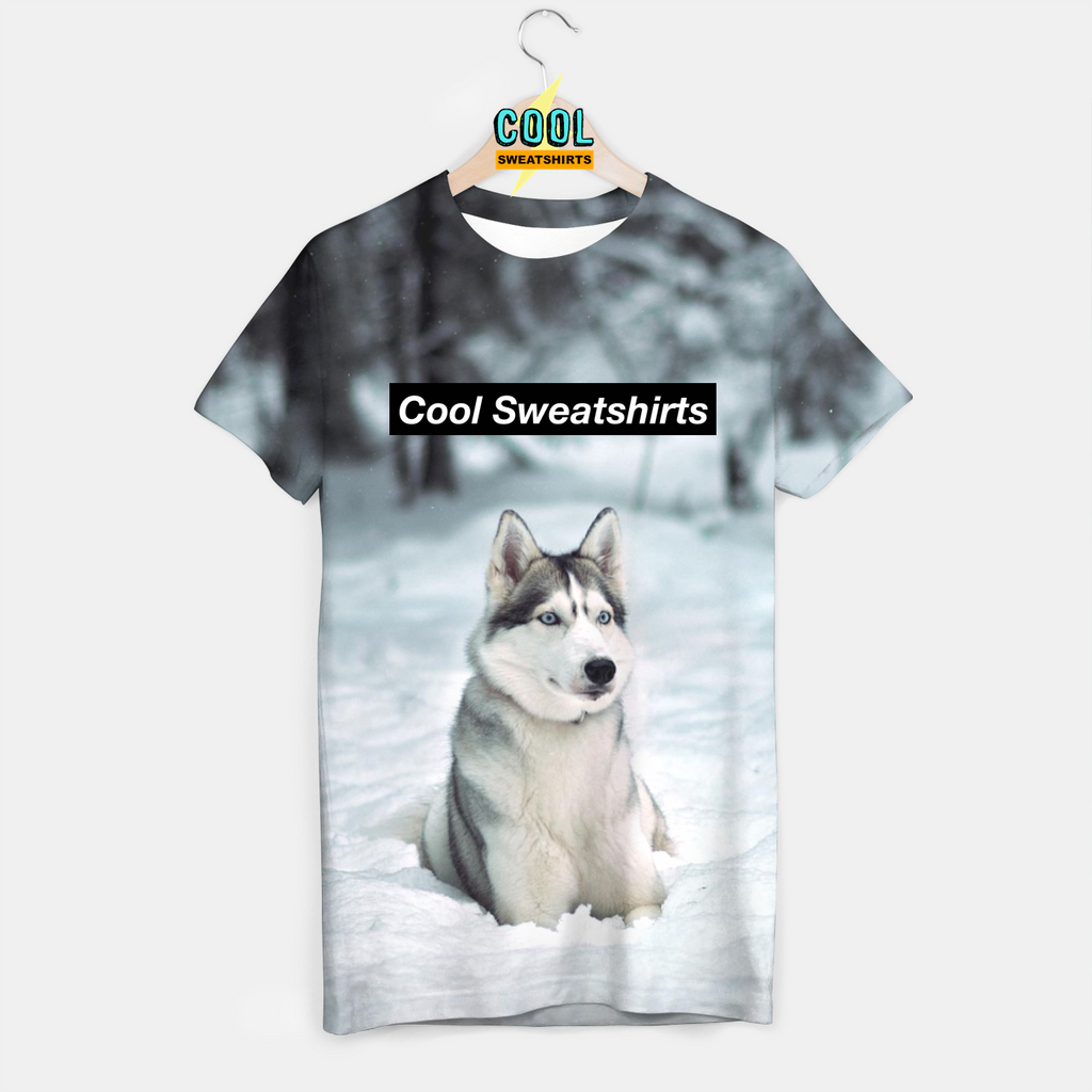 Cool Sweatshirts: Snow Husky Shirt