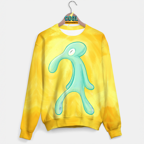 Cool Sweatshirts: Squidward Bold And Brash Painting