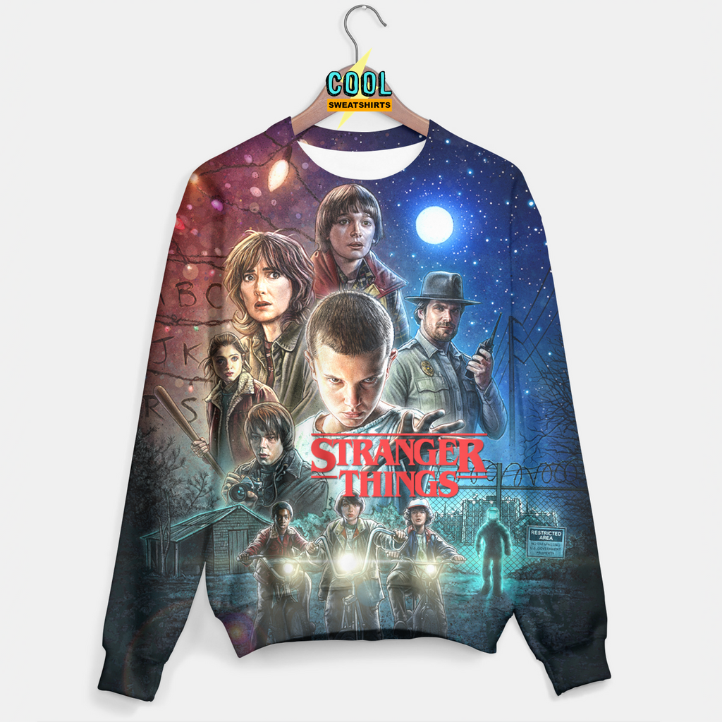 Cool Sweaters: Stranger Things Poster Sweater