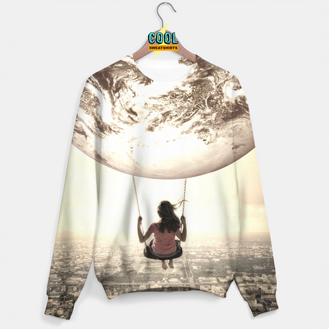 Cool Sweatshirts: Swinging From The Universe Sweater