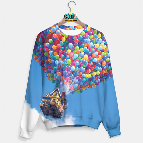 Cool Sweatshirts: Up Balloons Clouds Sweater Disney