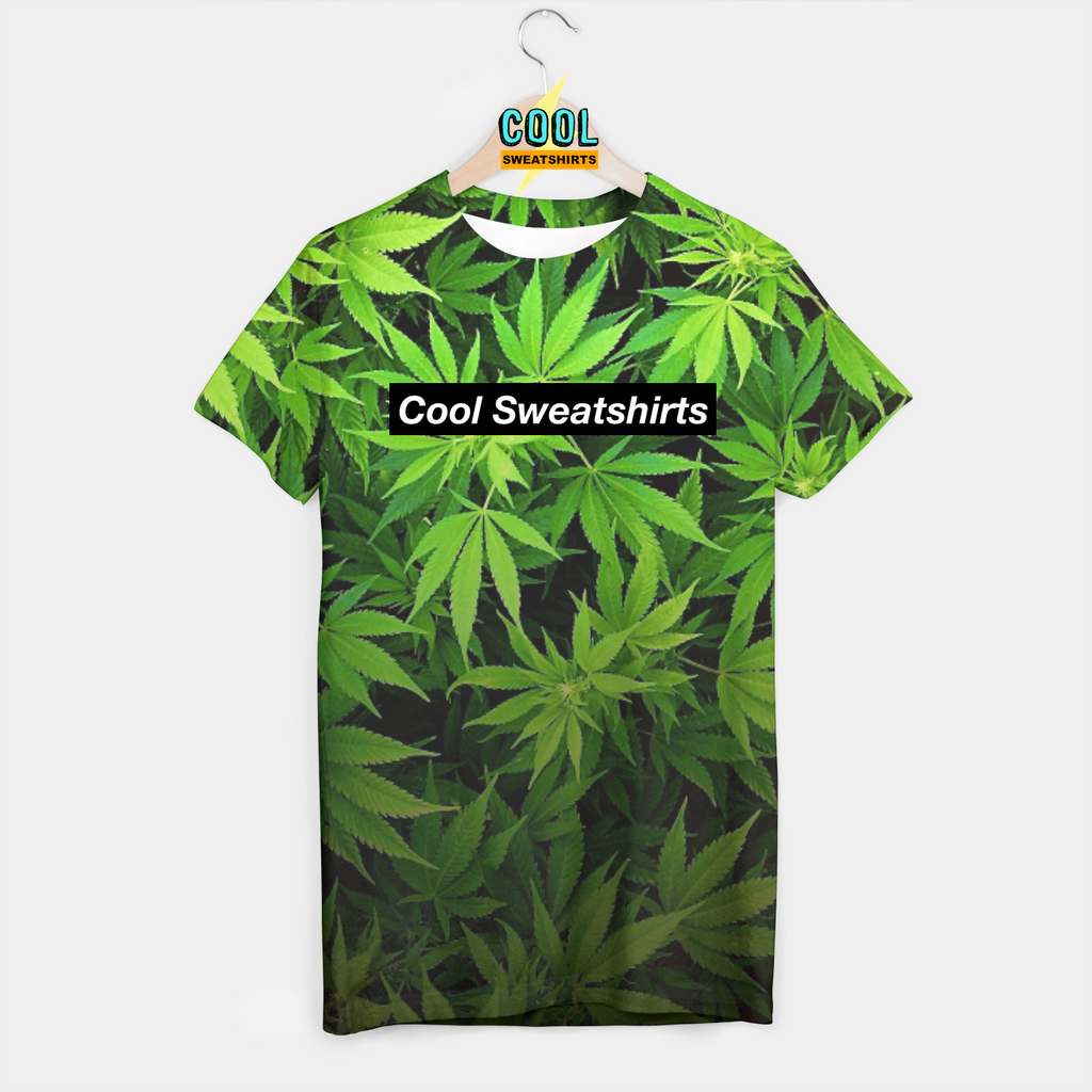 Cool Sweatshirts: Weed Leaves Shirt Marijuana Classic