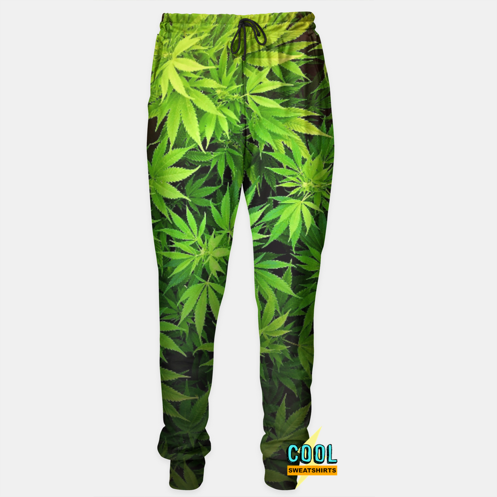 Cool Sweatshirts: Weed Leaves Joggers Marijuana Classic