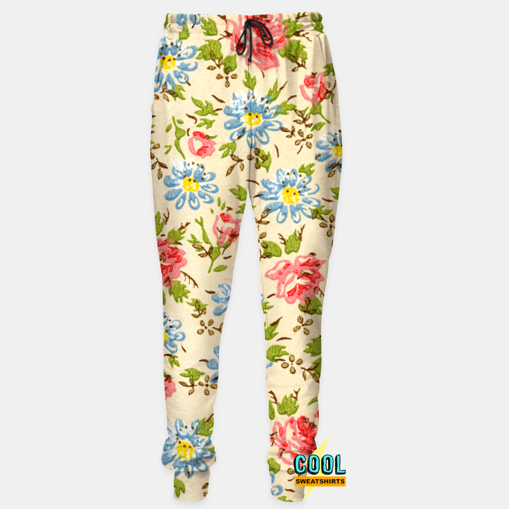 Cool Sweatshirts: Yellow Floral Joggers