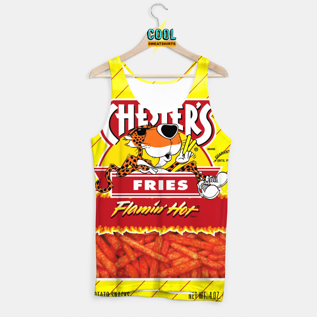 Cool Sweatshirts for men & women: Hot Fries Cheetos Tank, EDM, Rave, Ugly Christmas Sweaters, Mr Gugu & Miss Go HypeBeast sexysweaters