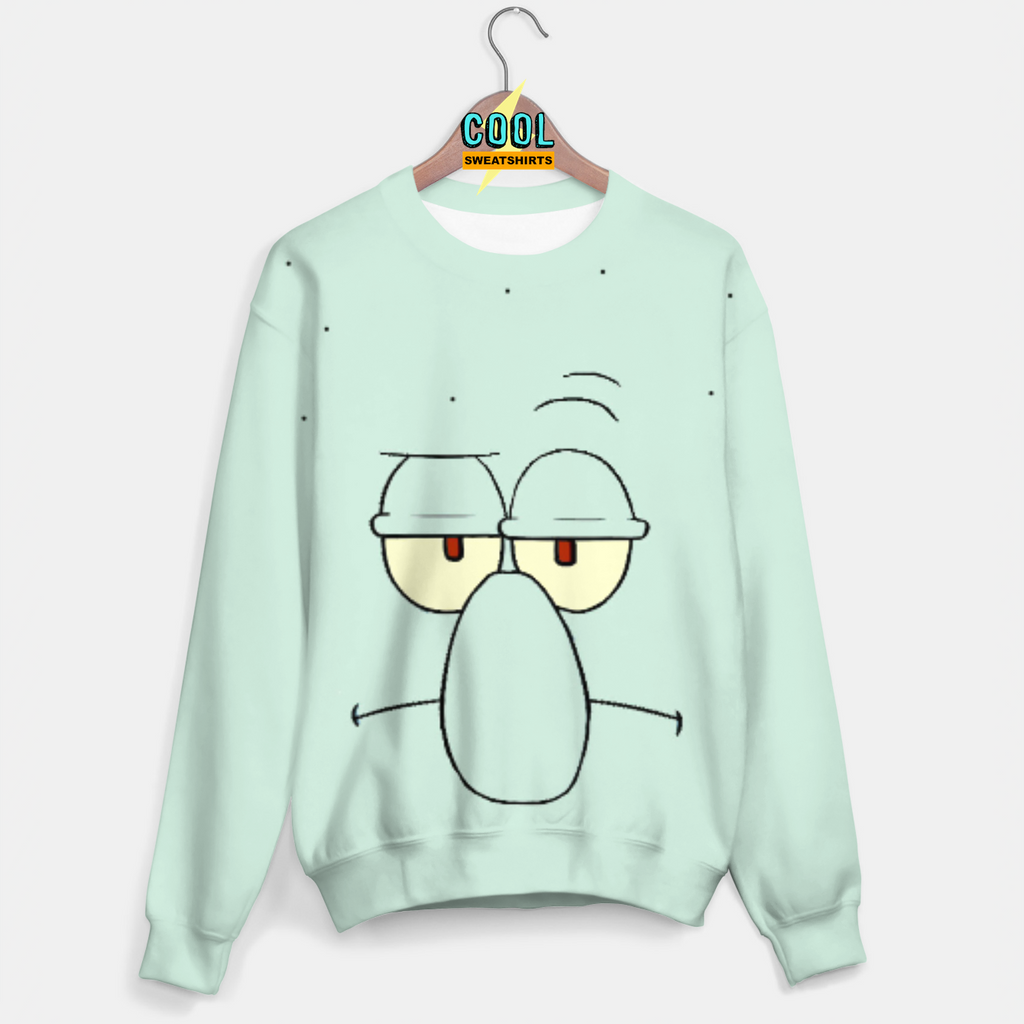 Cool Sweatshirts: Squidward Face Sweater