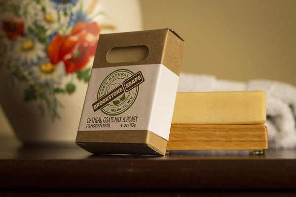 Unscented Oatmeal, Goats Milk & Honey Bar Soap