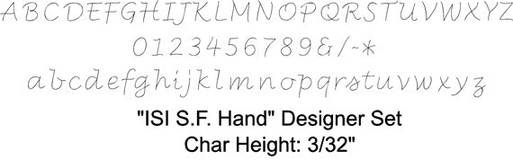ISI-S.F.Hand Font Chart