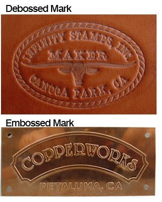 Debossed Mark vs. Embossed Mark Image