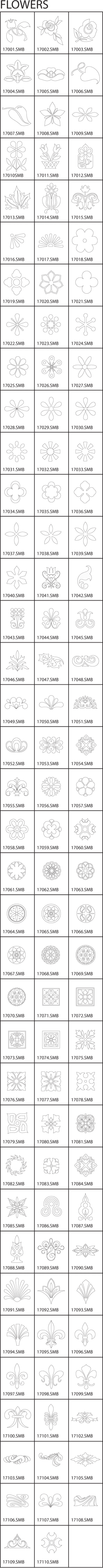 Flowers Clip-Art Gallery Chart