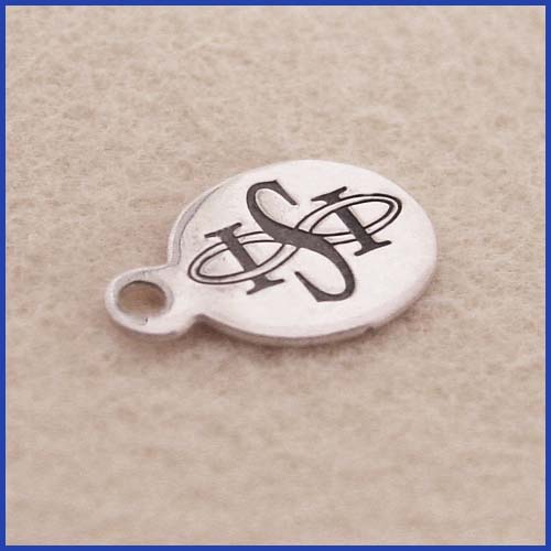 ISI Stamped and Blackened Jewelry Tag