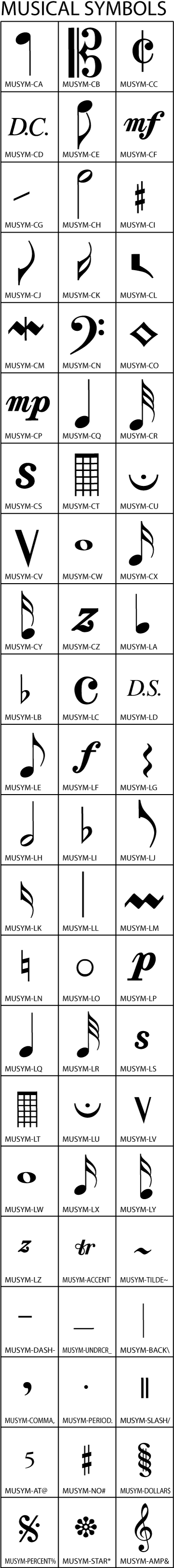 Music symbols clip art gallery infinity stamps inc music symbols clip art gallery biocorpaavc Image collections