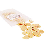 Bag of 14k Gold Plated Jewelry Tags in style A