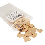 Bag of 14k Gold Plated Jewelry Tags in style J