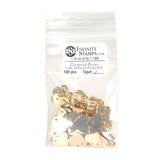 14k Gold Plated Jewelry Tag J - 100 Pack