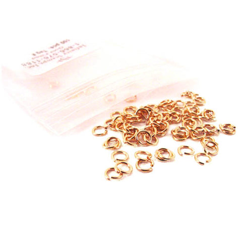 Bag of 14k Gold Plated Jump Rings - 100 Pack
