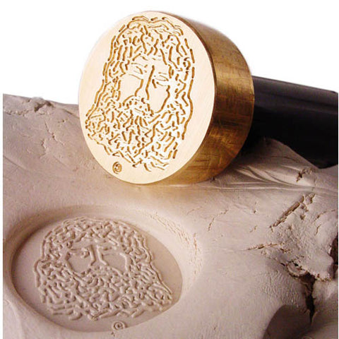 Custom Precious Metal Clay Stamp and impression
