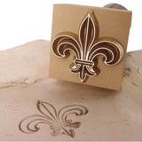 Fleur de Lis Custom Precious Metal Clay Stamp and imprint