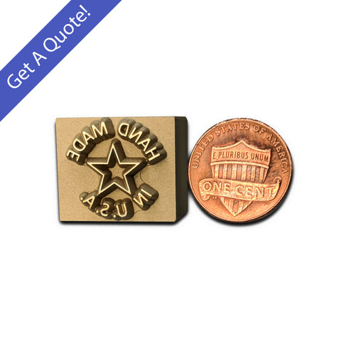 Custom Brass Precious Metal Clay Stamp
