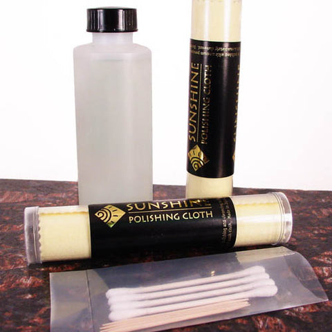 Closeup of Blackening and Polishing Kit for Sterling Silver