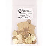 Brass Jewelry Tag A - 100 Pack
